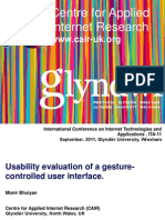 Usability evaluation of a gesture-controlled user interface.