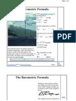 Atmospheric Pressure Calculation