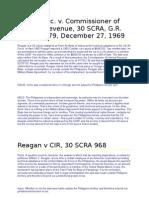 Reagan v CIR 30 SCRA 968 27 December 1969