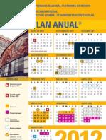 Calendario UNAM 2012