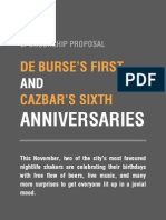 Proposal - De Burse & Cazbar's Anniversary Parties