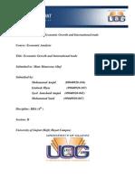Economic Growth & International Trade