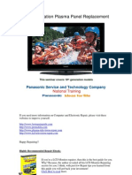 PANASONIC 10th_Gen_Plasma Tv Panel_Replacement Training Guide