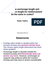 Anchorage & Splice Length