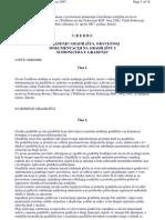 Uredba Vlade FBH o Uredjenju Gradilista