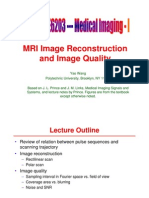 MRI Image Reconstruction Ch13