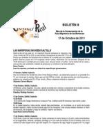 Boletín 8 de correo real de las mariposas monarca. Otoño de 2011