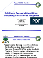 DoD Range Geospatial Capabilities Supporting Cross-Service Range Use