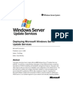 Deploying Microsoft Windows Server Update Services