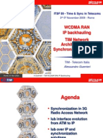 Telecom Italia - WCDMA RAN IP Back Hauling - TIM Network Architecture and Synchronization Aspects