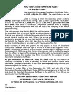 Secretarial Compliance Certificate Rules