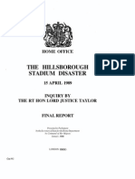 Hills Borough Stadium Disaster Final Report