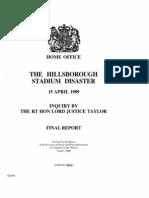 Hills Borough Stadium Disaster Final Report