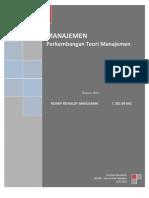 Perkembangan Teori Manajemen