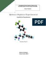 Apostila de esperimentos de química orgânica