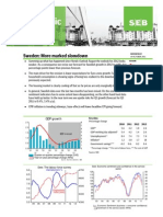 SEB cuts Swedish growth forecast for 2012