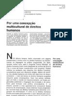 TEXTO - Por uma Concepção Multicultural de Direitos Humanos - Boaventura de Sousa Santos