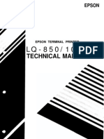 Epson LQ-850 LQ-1050 Service Manual