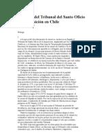 Historia del Tribunal del Santo Oficio de la Inquisición en Chile