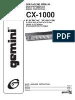 Cross Over Cx1000_manual