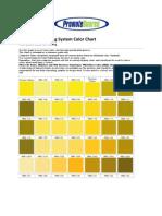 PMS Pantone Color Chart