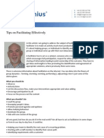 Tips on Facilitating Effectively