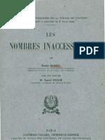 Les Nombres Inaccessibles _Borel -1952