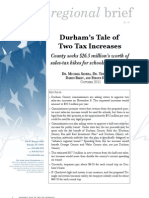 Regional Brief 81 Durham's Tale of Two Tax Increases