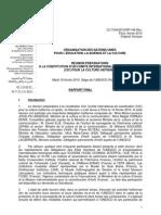 RÉUNION PRÉPARATOIRE  Á LA CONSTITUTION D'UN COMITÉ INTERNATIONAL DE COORDINATION  (CIC) POUR LA CULTURE HAÏTIENNE