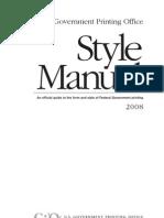 2008 GPO Style Manual