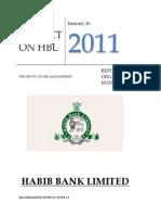 HBL Management Project Report