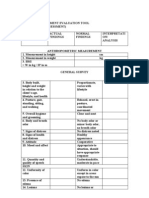 Physical Assessment Evaluation Tool