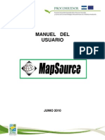 Manual MapSource GPSfin