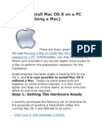 How to Install Mac OS X on a PC