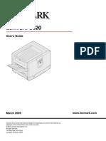Lexmark C920 User Guide