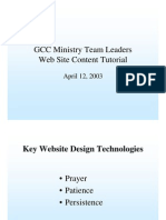 GCC Ministry Team Leaders Website Training Presentation - ms ppt