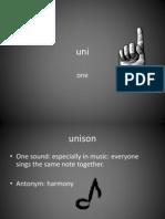 Uni Prefix