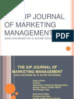 The Iup Journal of Marketing Managemen-ppt