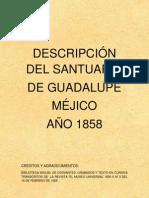Déscripcion del santuario de Guadalupe-Méjico año 1858