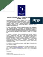 Encuentros Announcement Spanish