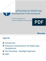 Using PhoneGap and Worklight for Mobile App Development in the Enterprise