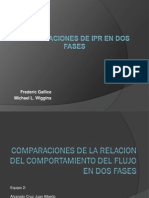 Comparaciones de La Relacion Del Comport a Mien To Del Flujo