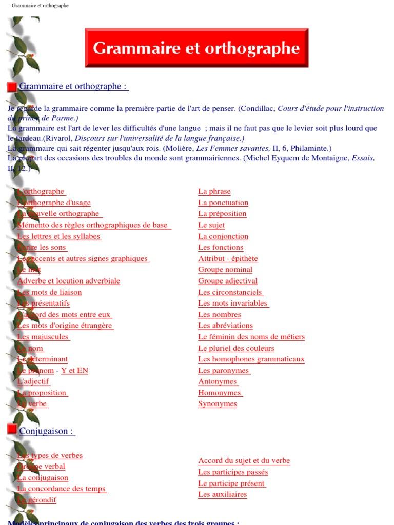 Grammaire et orthographe | Nombre grammatical | Verbe