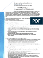 Latin American Youth Declaration