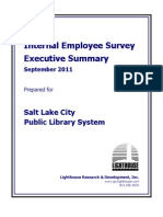 Salt Lake City Library Employee Survey