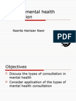 Types of mental health consultation