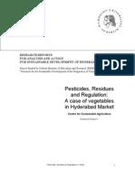 Pesticides Residues Regulation CSA