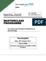 Master Class 28 10 11 - Programme