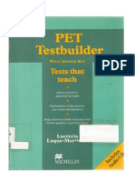 Pet Test Builder With Answer Key