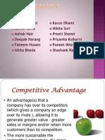 Competitive Advantage Ppt PGDAME B Group 4